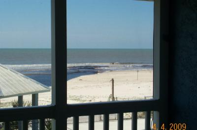 Beach Bungalow view from master bedroom deck